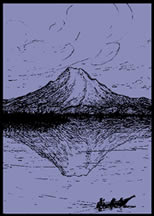 rainier canoe illustration